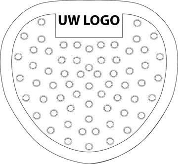 Urinoirrooster eigen logo 100 stuks