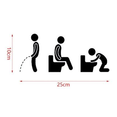 Sticker toiletdeur | Fun | Heren