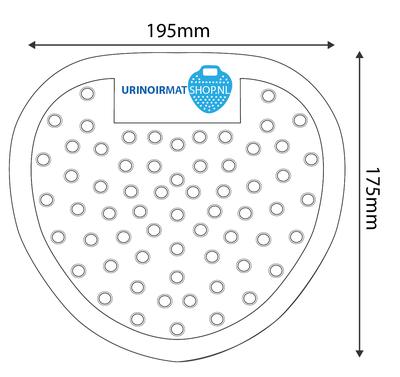 Urinoirrooster standaard Zwart (12 stuks)