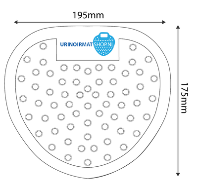 Urinoirrooster standaard Zwart (50 stuks)
