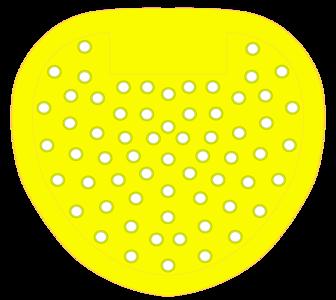 Urinoirrooster standaard Geel